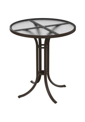 acrylic patio round umbrella bar table