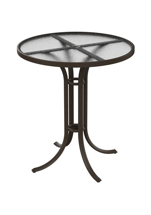 acrylic patio round umbrella bar table
