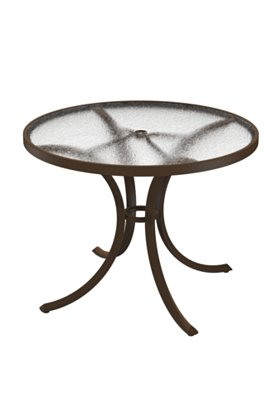 round acrylic outdoor dining table