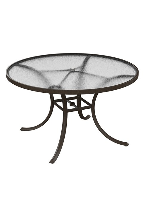 round acrylic patio umbrella dining table