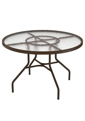 "Acrylic 42"" Round Dining Umbrella Table"