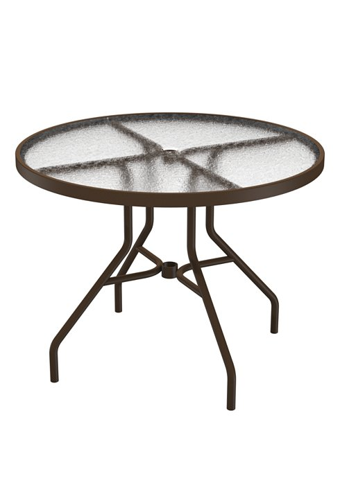 patio round acrylic dining table
