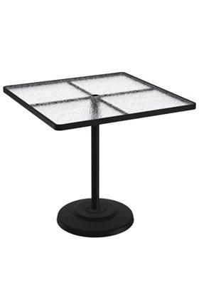 acrylic square patio pedestal bar table