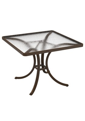 square acrylic outdoor dining table