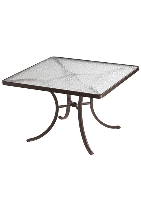 acrylic patio square dining table