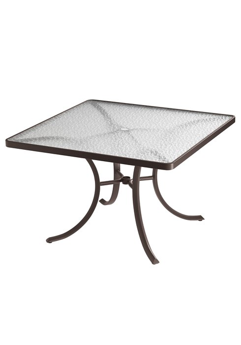 acrylic square outdoor dining table