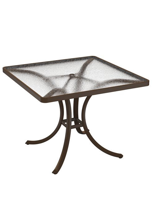 square acrylic patio dining umbrella table
