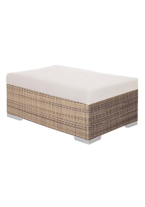 Arzo Woven Rectangular Patio Ottoman