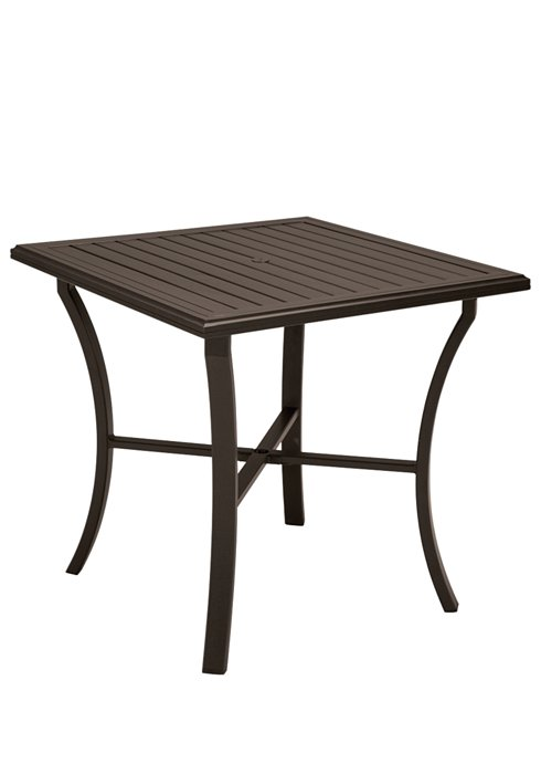 patio square bar umbrella table
