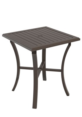 square patio bar umbrella table