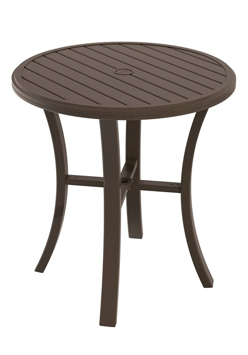 round patio bar table