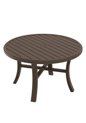 outdoor round chat umbrella table