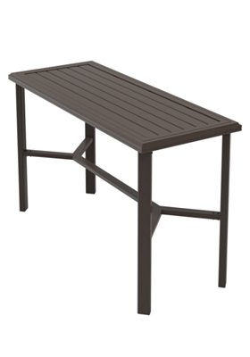 rectangular outdoor console table