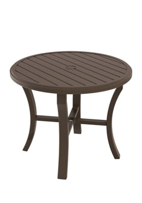 outdoor round dining umbrella table