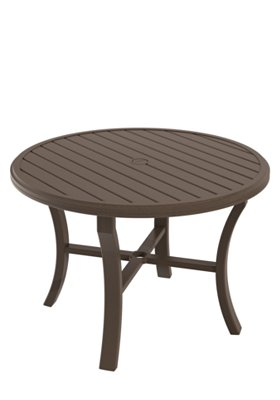 round patio dining umbrella table