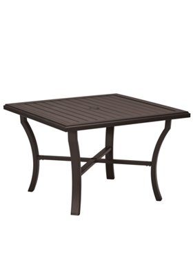 patio square dining umbrella table