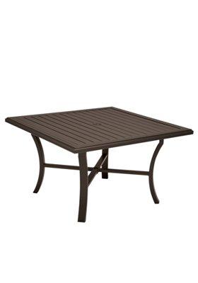 square patio dining umbrella table