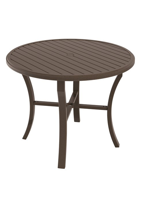 outdoor round counter umbrella table