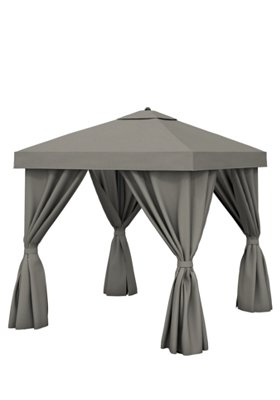 Aluminum Cabana 10 Square W Fabric Curtains Amp Vent