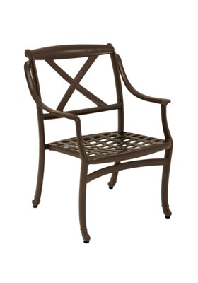 outdoor dining chair with cast aluminum frame