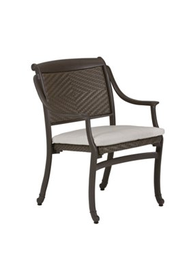 outdoor woven dining chair with pad