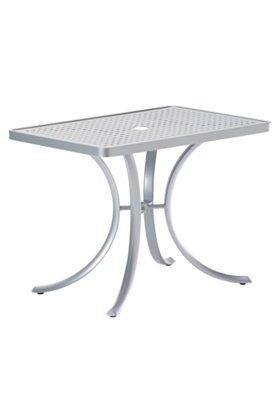 rectangular patio dining umbrella table