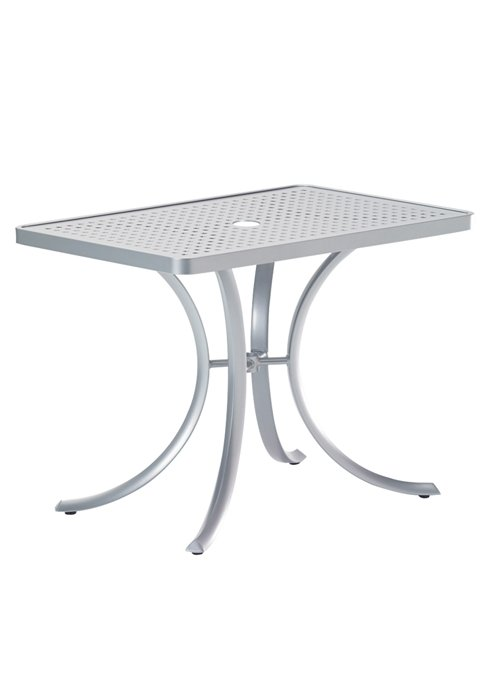 rectangular patio dining umbrella table