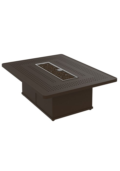modern patio rectangular fire pit