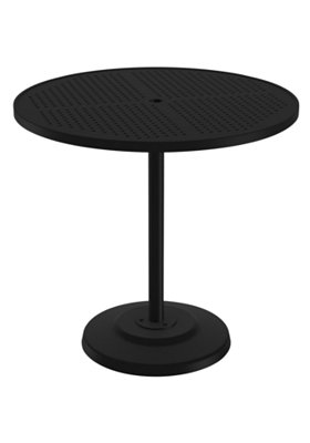 round pedestal outdoor bar table