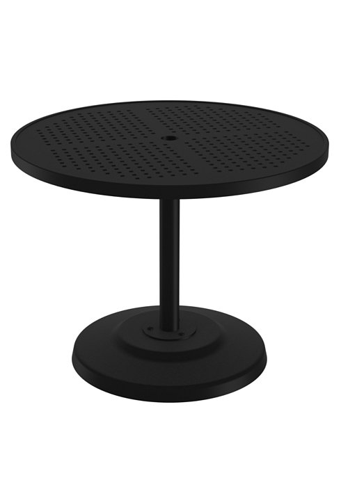 round patio pedestal dining table