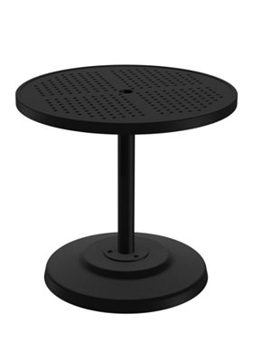 round outdoor pedestal dining table