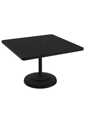 square pedestal patio dining table