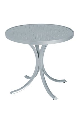 patio patterned dining table round