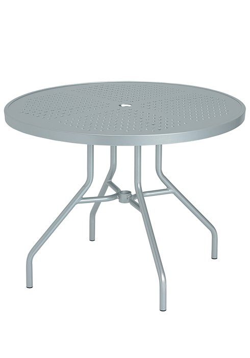 dining umbrella table patio patterned round
