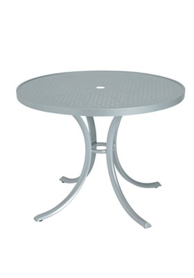 outdoor round patterned dining table