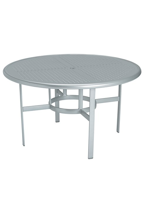 round patio patterned dining table