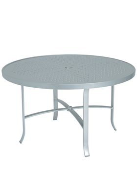 round patio dining table patterned