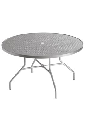 patio dining table round patterned