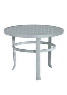 round modern patio tea table