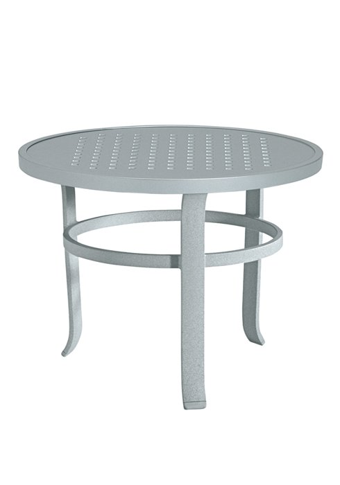 round modern patio tea table