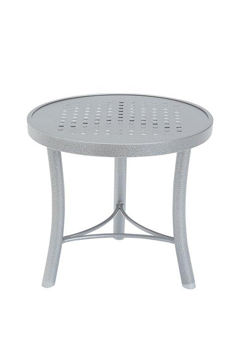 patio aluminum round tea table