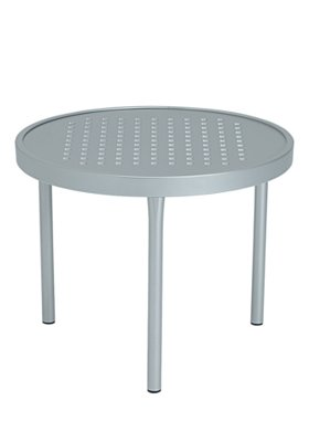 patio modern aluminum round tea table