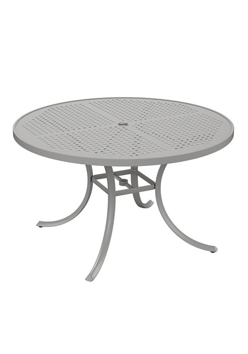 patio round patterned dining table