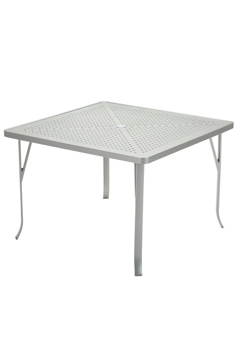 aluminum square patio dining table