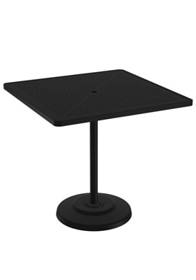 patio square pedestal bar table