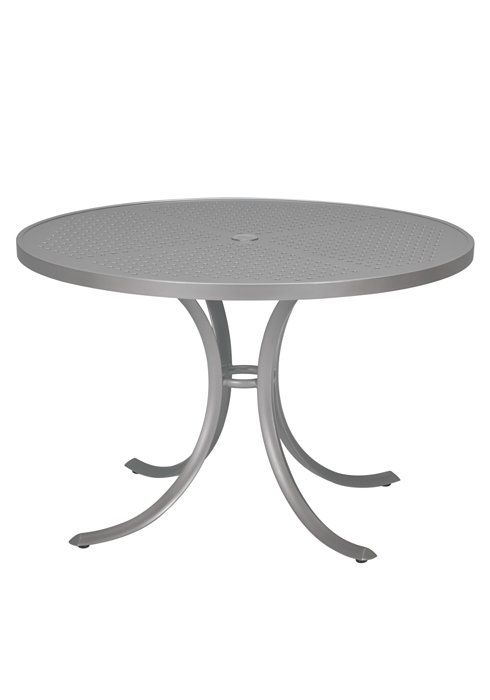 patio patterned round dining table