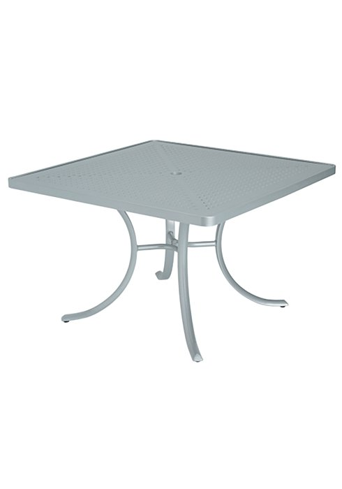 outdoor square dining patterned table