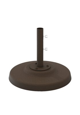 "Cement Filled Aluminum Base, 24"" Round, 1.5"" Pole, Free Standing"