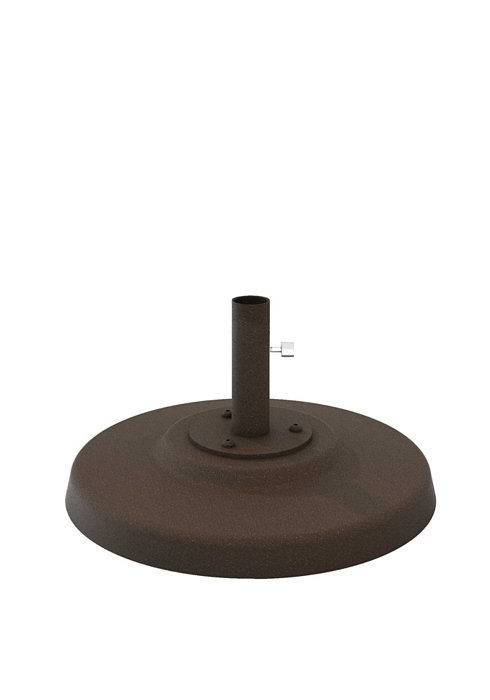 "Cement Filled Aluminum Base, 20"" Round, 1.5"" Pole, Table Height"