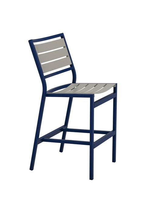 patio armless aluminum slat bar stool